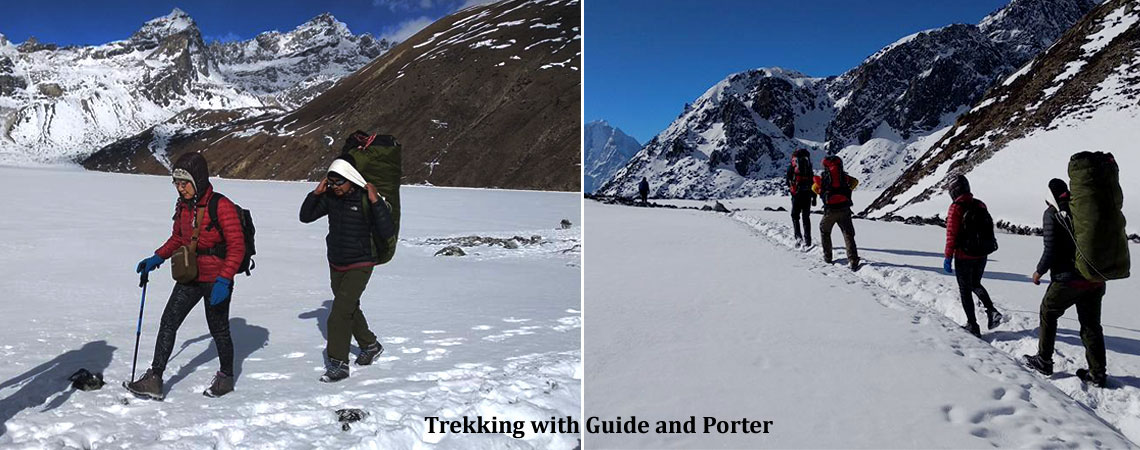 Trekking with Guide and Porter