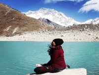 Meditation in Gokyo Lake